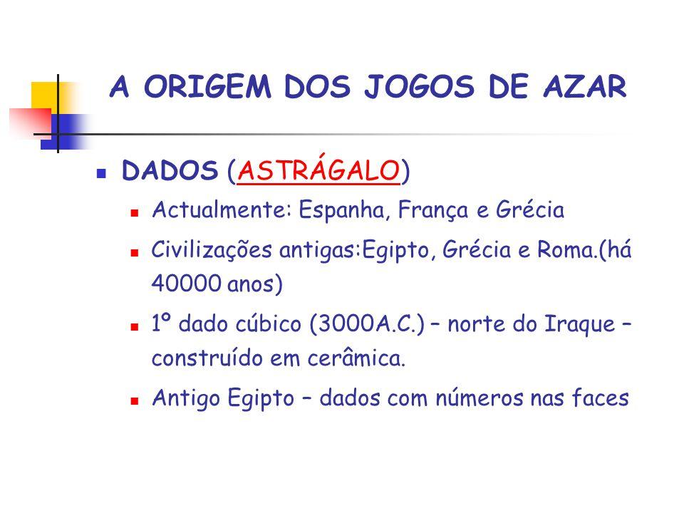 A ORIGEM DOS JOGOS DE AZAR