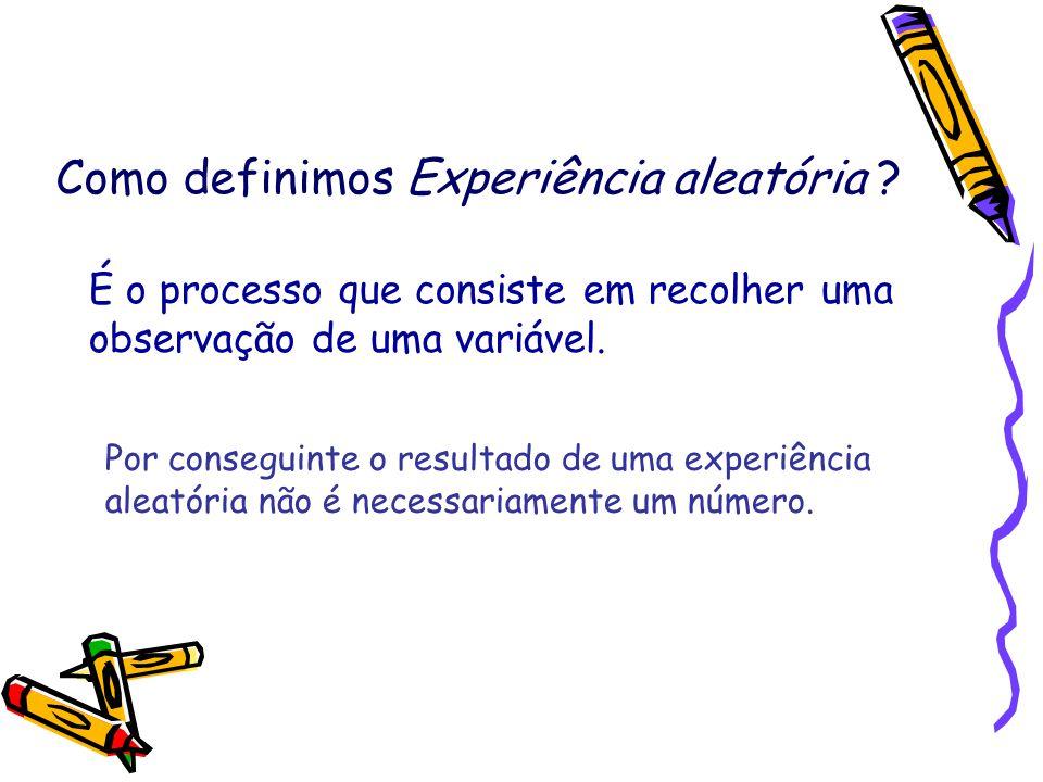 Como definimos Experiência aleatória