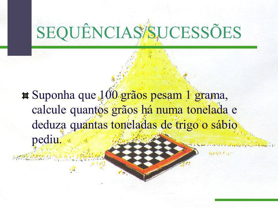 SEQUÊNCIAS/SUCESSÕES