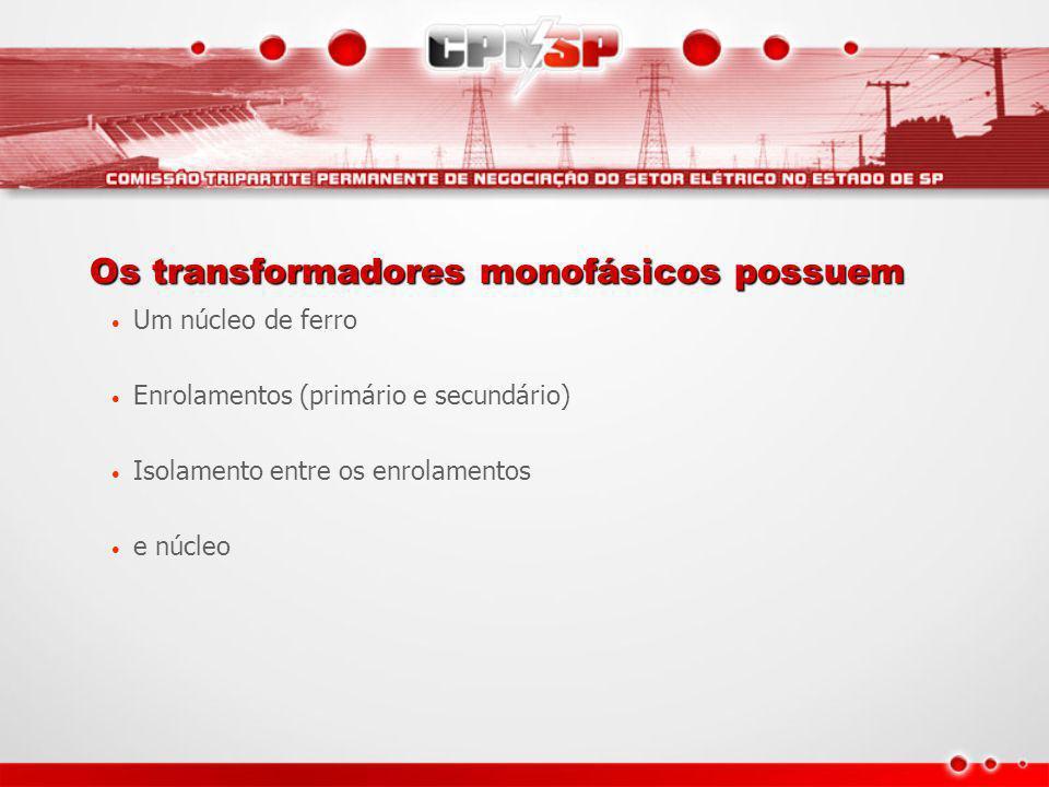 Os transformadores monofásicos possuem