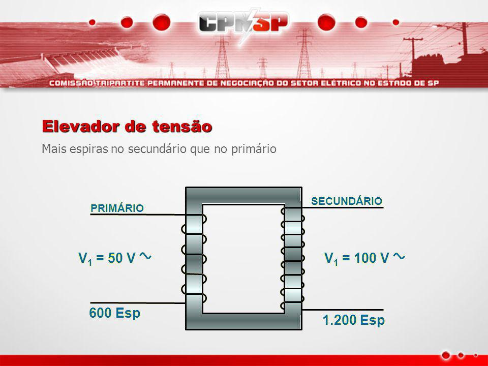 Elevador de tensão V1 = 50 V V1 = 100 V 600 Esp 1.200 Esp