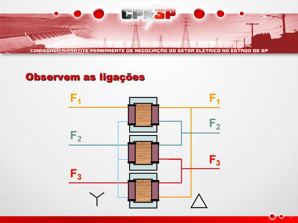 Observem as ligações F1 F1 F2 F2 F3 F3