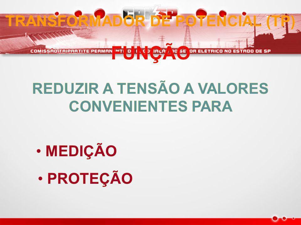 TRANSFORMADOR DE POTENCIAL (TP) REDUZIR A TENSÃO A VALORES