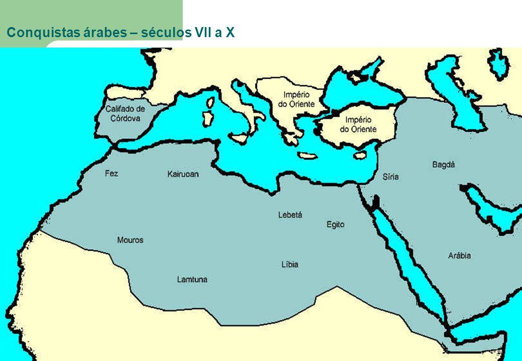 Conquistas árabes – séculos VII a X