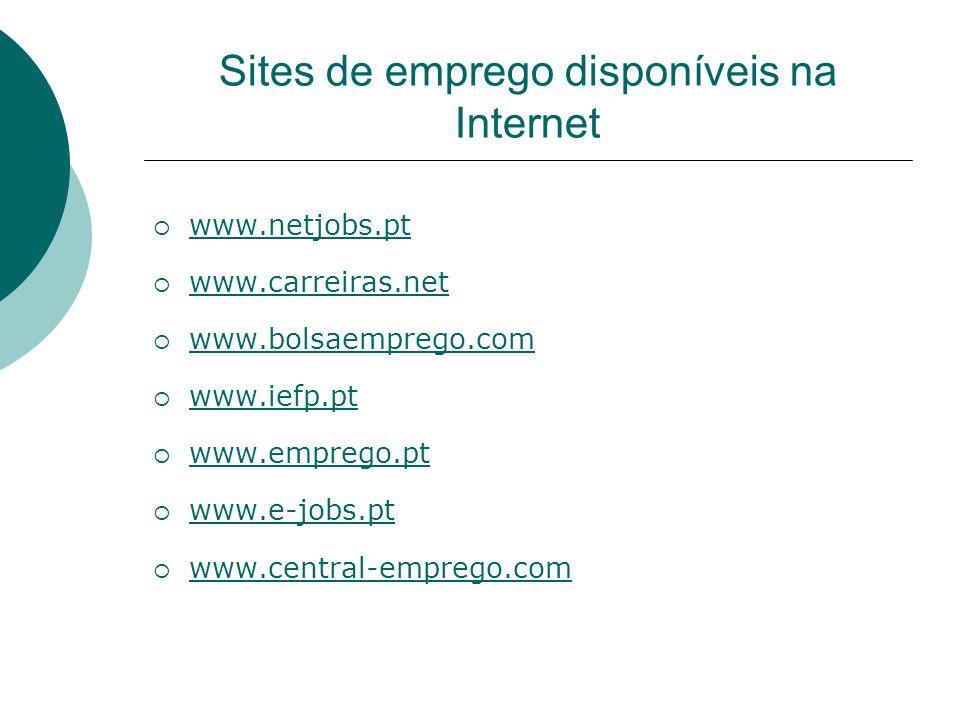 Sites de emprego disponíveis na Internet