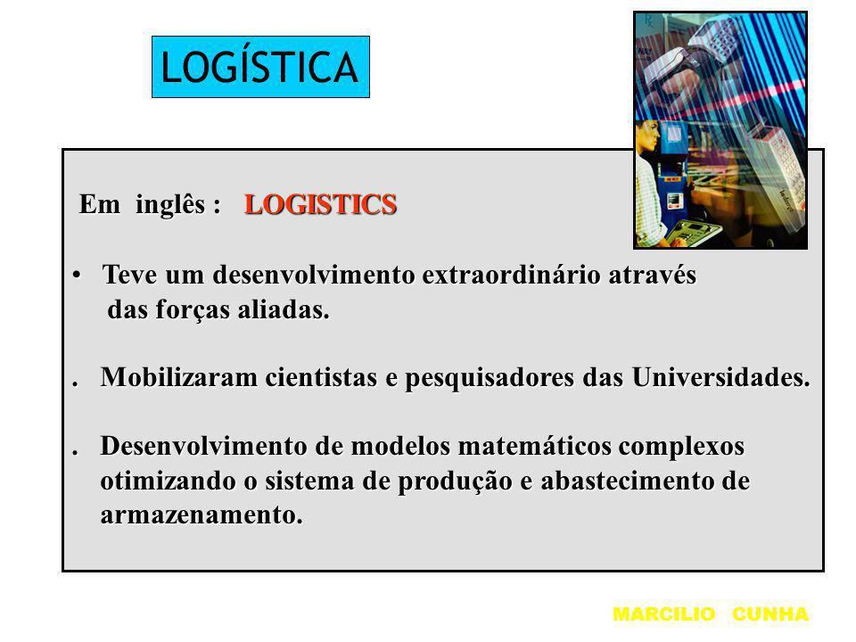 LOGÍSTICA Em inglês : LOGISTICS