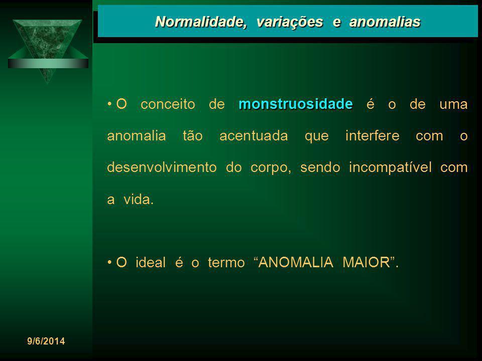 Normalidade, variações e anomalias