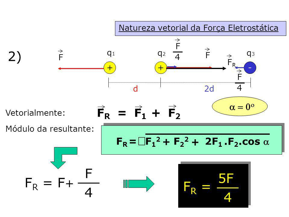 2) Ö F 5F FR = F+ FR = 4 4 FR = F1 F2 + a = 0o + FR = F12 F22 2F1