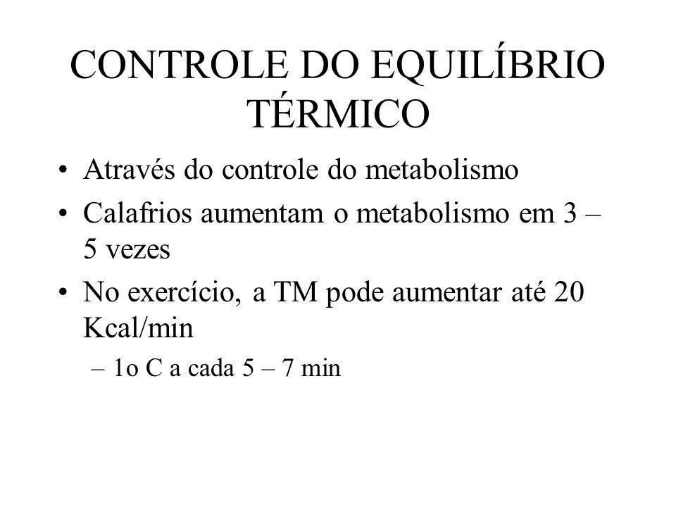 CONTROLE DO EQUILÍBRIO TÉRMICO