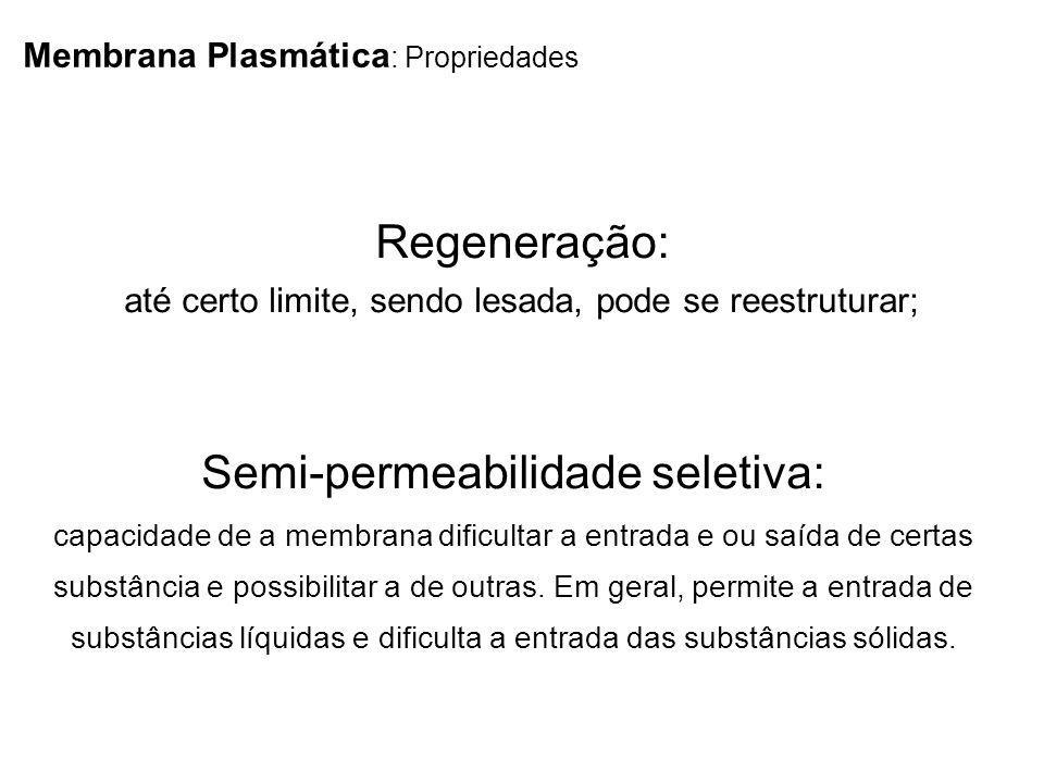 Semi-permeabilidade seletiva: