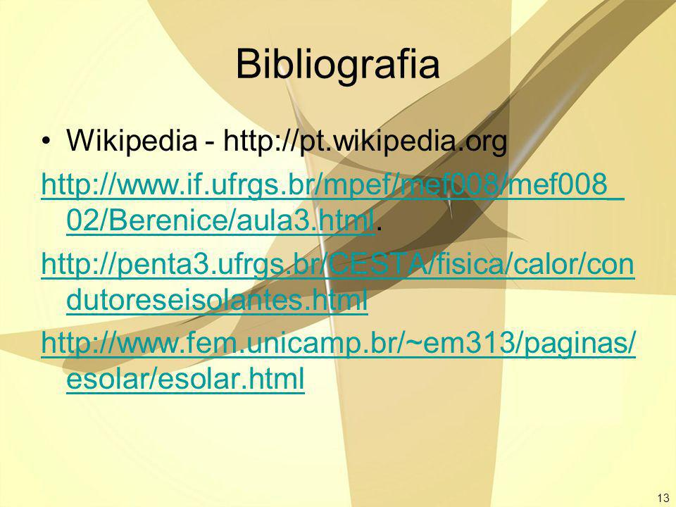 Bibliografia Wikipedia - http://pt.wikipedia.org