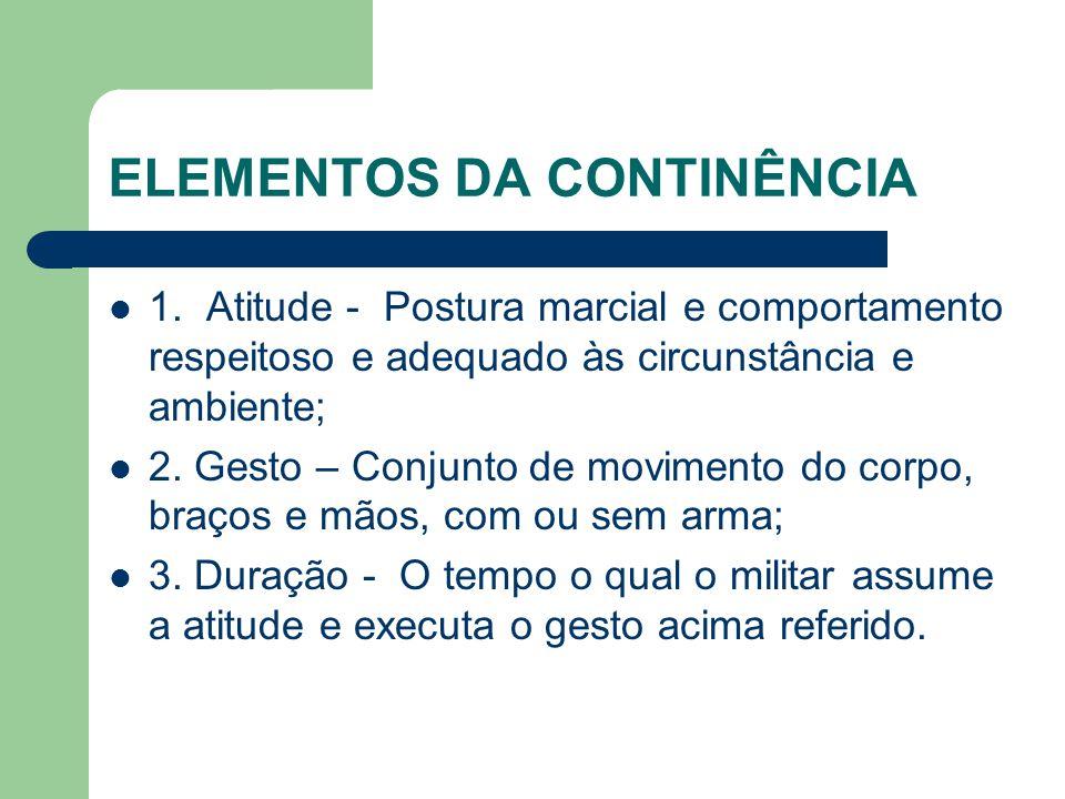 ELEMENTOS DA CONTINÊNCIA