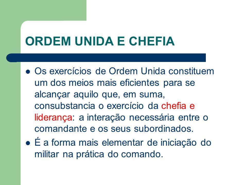 ORDEM UNIDA E CHEFIA