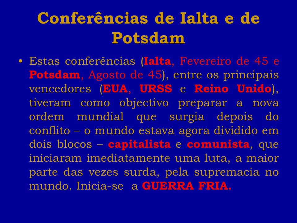 Conferências de Ialta e de Potsdam