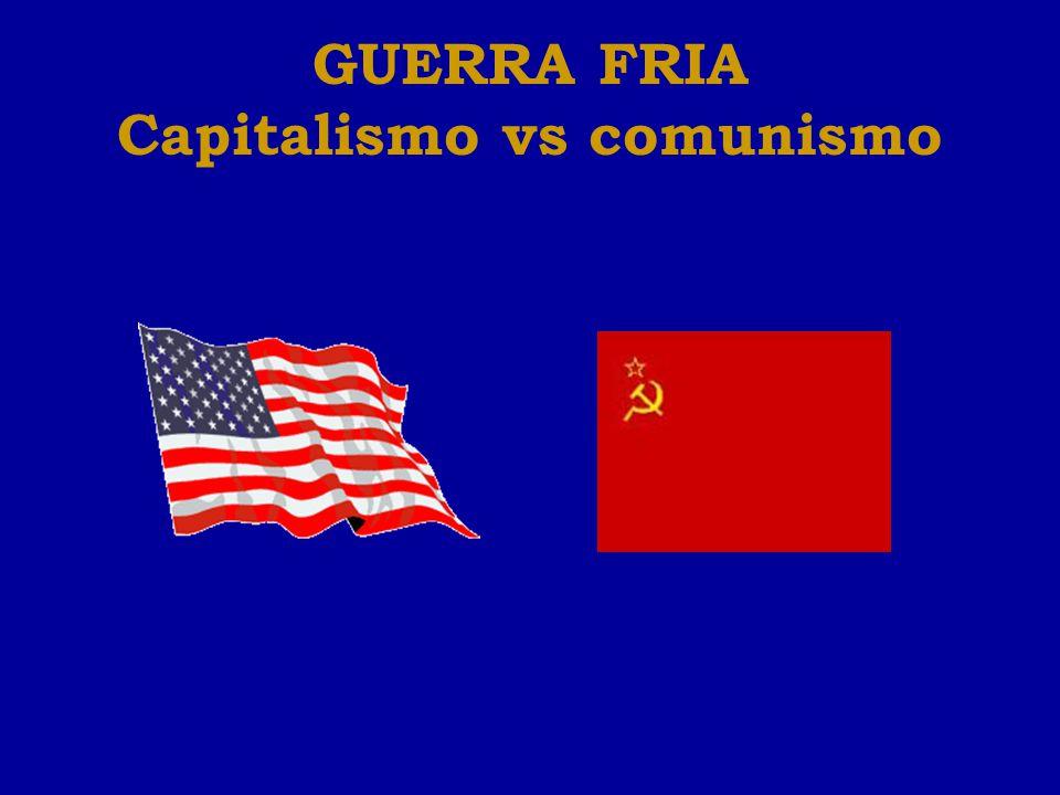 GUERRA FRIA Capitalismo vs comunismo