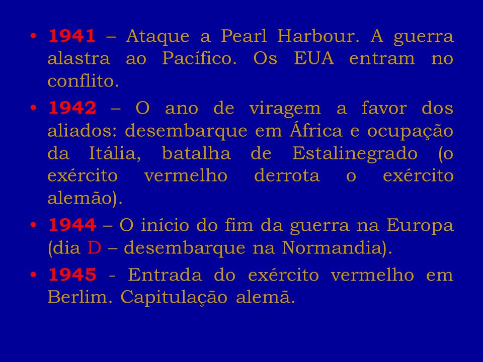 1941 – Ataque a Pearl Harbour. A guerra alastra ao Pacífico