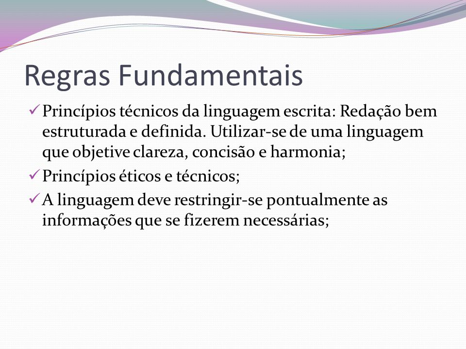 Regras Fundamentais