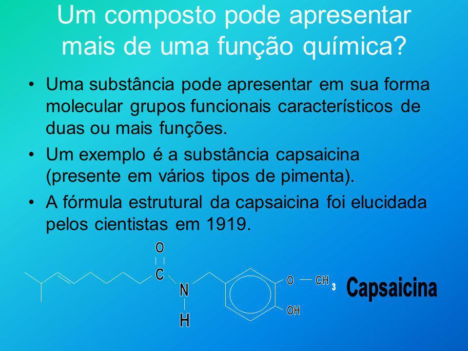 Um composto pode apresentar mais de uma função química