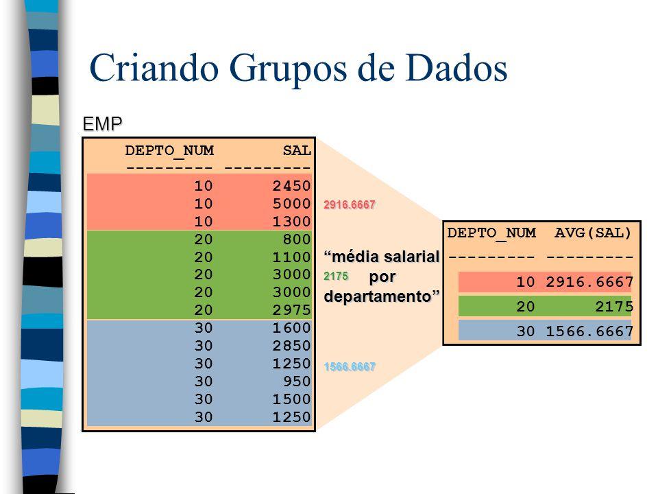 Criando Grupos de Dados