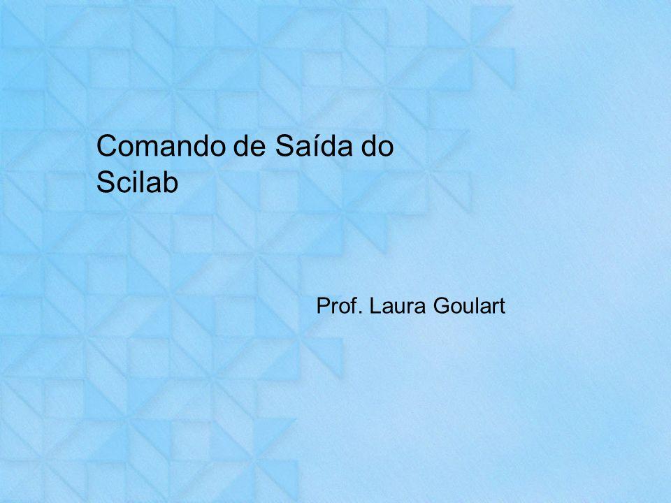 Comando de Saída do Scilab