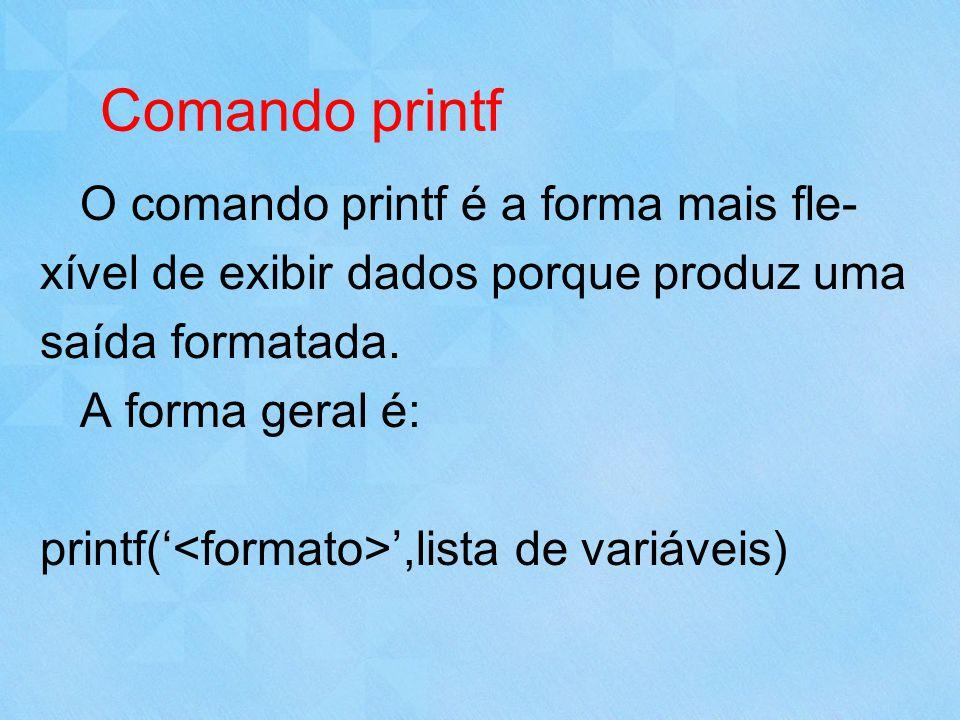 Comando printf