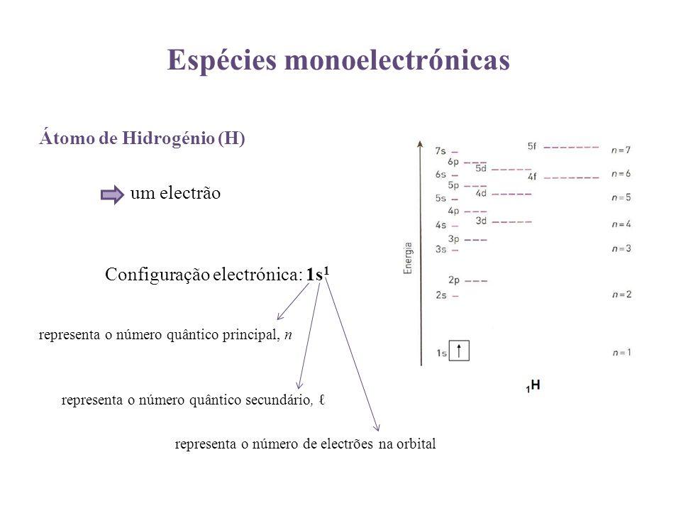 Espécies monoelectrónicas
