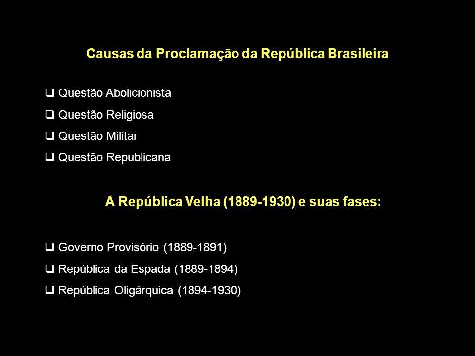 Causas da Proclamação da República Brasileira