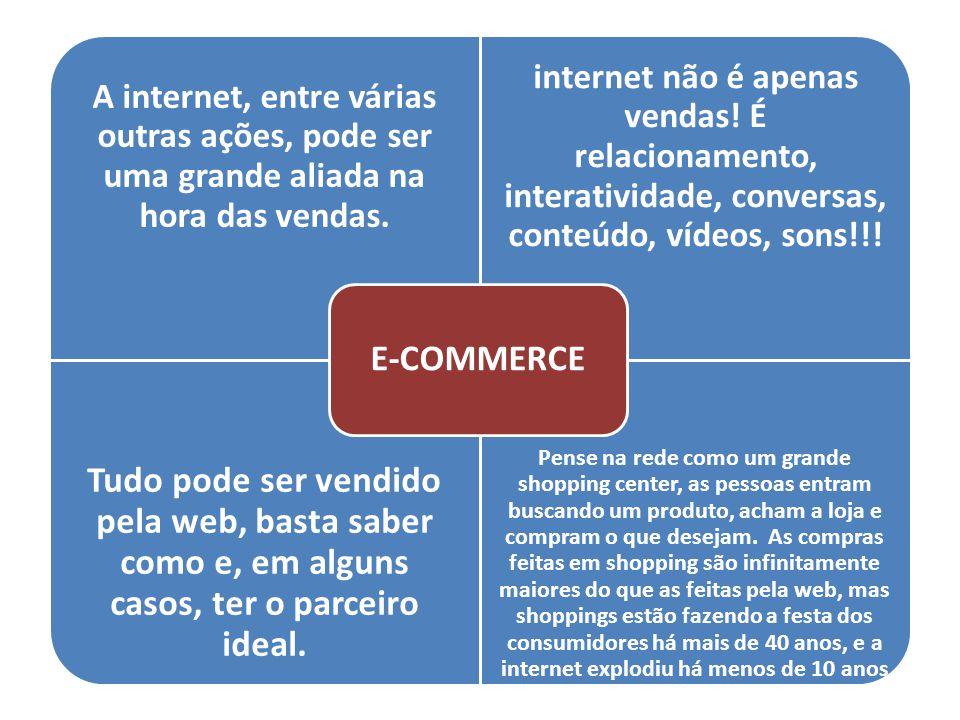 E-COMMERCE A internet, entre várias outras ações, pode ser uma grande aliada na hora das vendas.