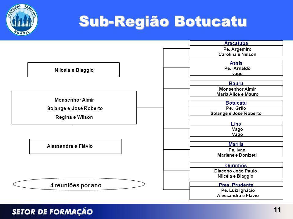 Sub-Região Botucatu 4 reuniões por ano Monsenhor Almir