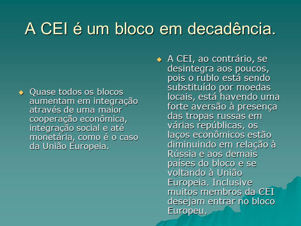 A CEI é um bloco em decadência.
