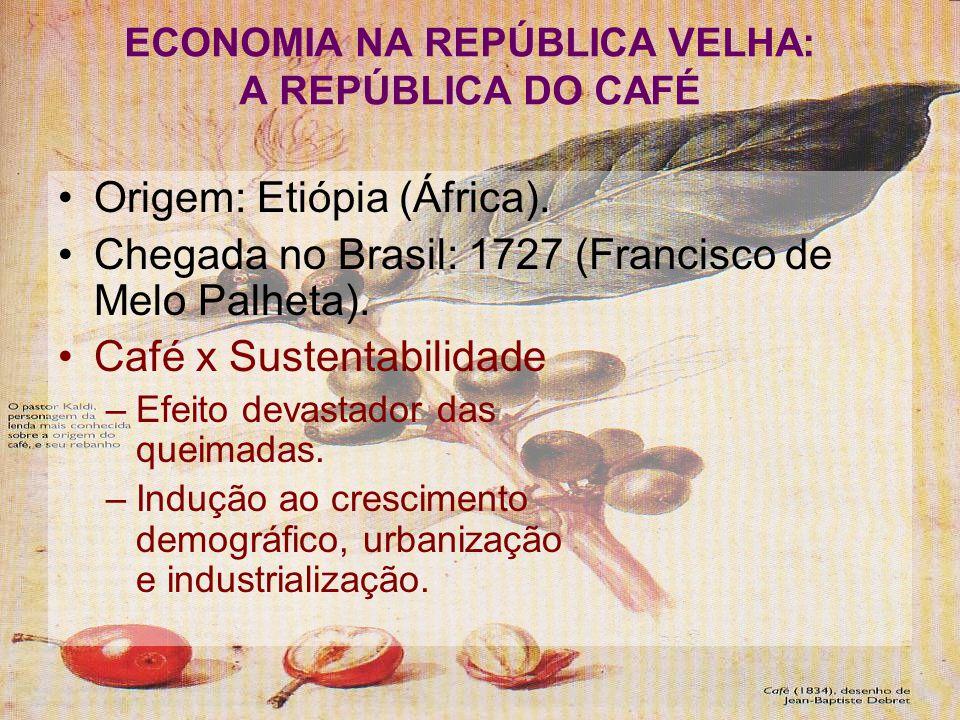 ECONOMIA NA REPÚBLICA VELHA: A REPÚBLICA DO CAFÉ