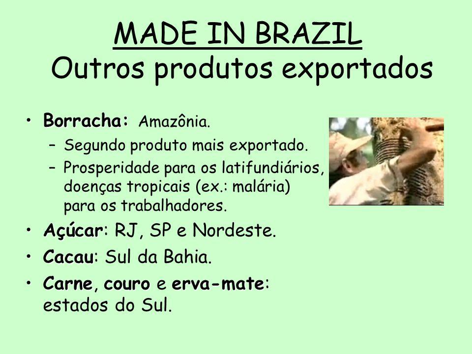 MADE IN BRAZIL Outros produtos exportados