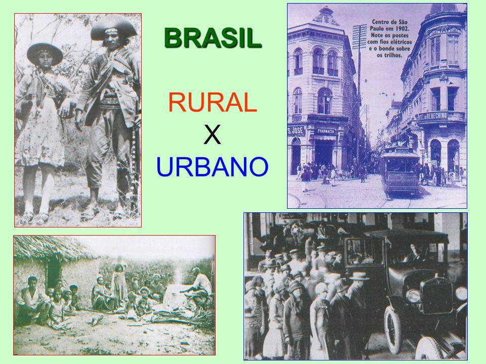 BRASIL RURAL X URBANO