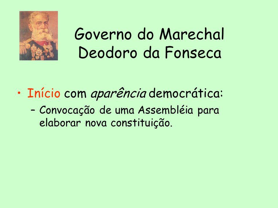 Governo do Marechal Deodoro da Fonseca