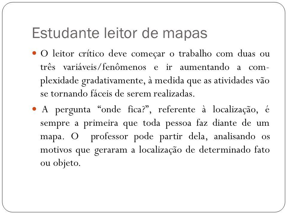 Estudante leitor de mapas
