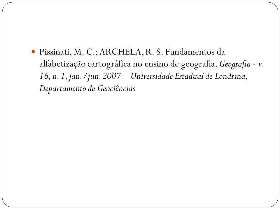 Pissinati, M. C. ; ARCHELA, R. S