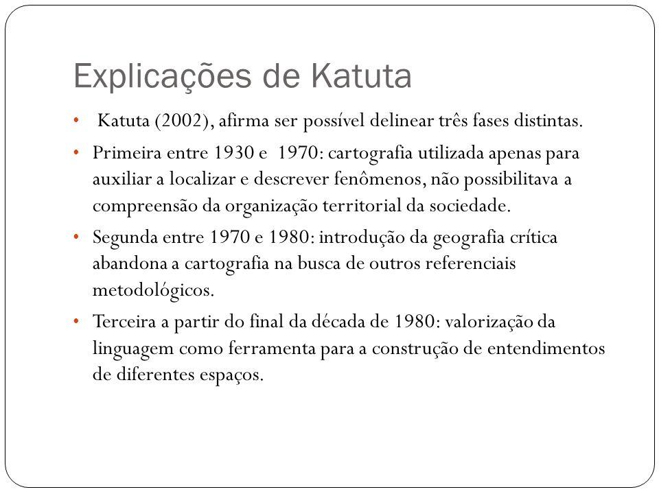 Explicações de Katuta Katuta (2002), afirma ser possível delinear três fases distintas.