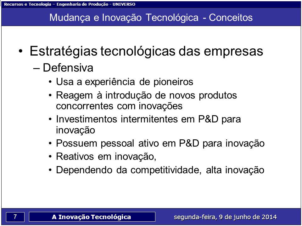 Mudança e Inovação Tecnológica - Conceitos