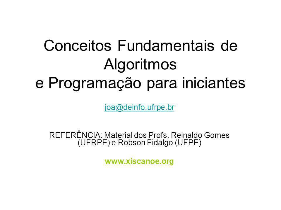 Conceitos Fundamentais de Algoritmos e Programação para iniciantes