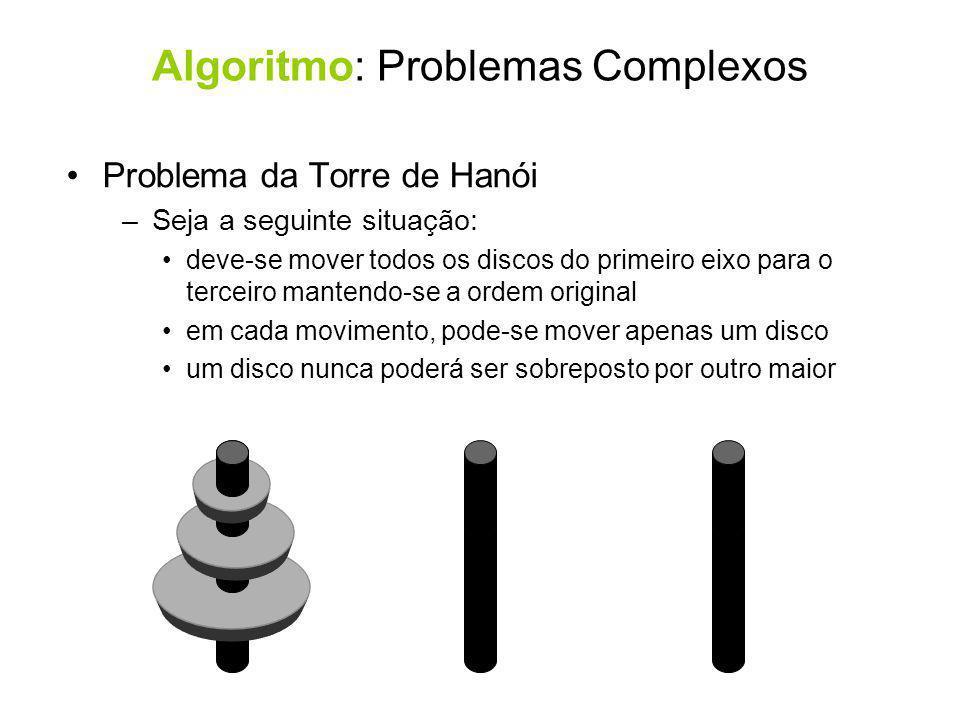 Algoritmo: Problemas Complexos
