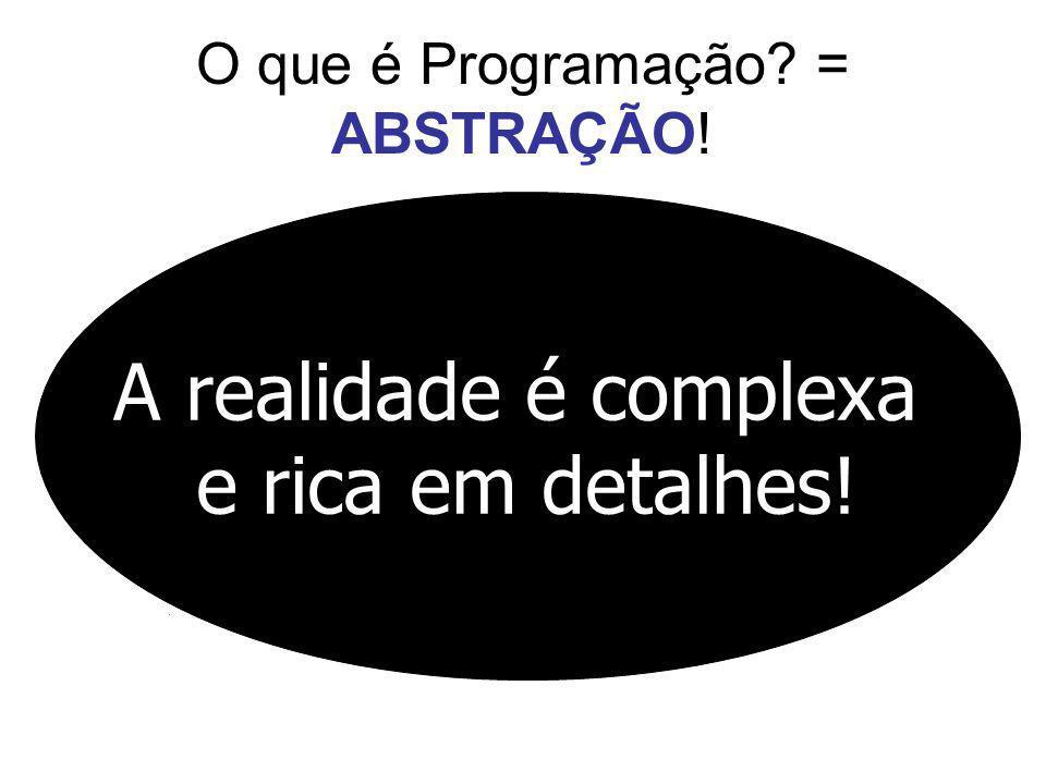 O que é Programação = ABSTRAÇÃO!