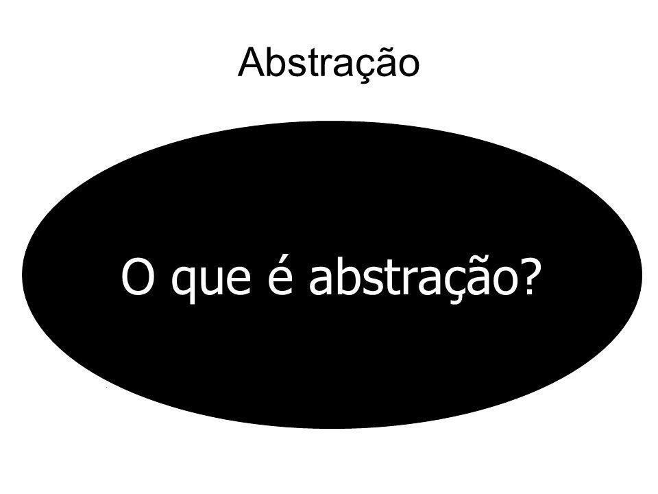Abstração O que é abstração