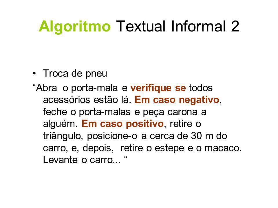 Algoritmo Textual Informal 2