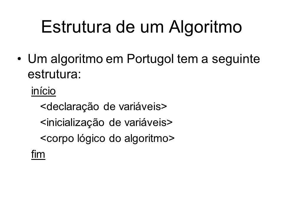 Estrutura de um Algoritmo