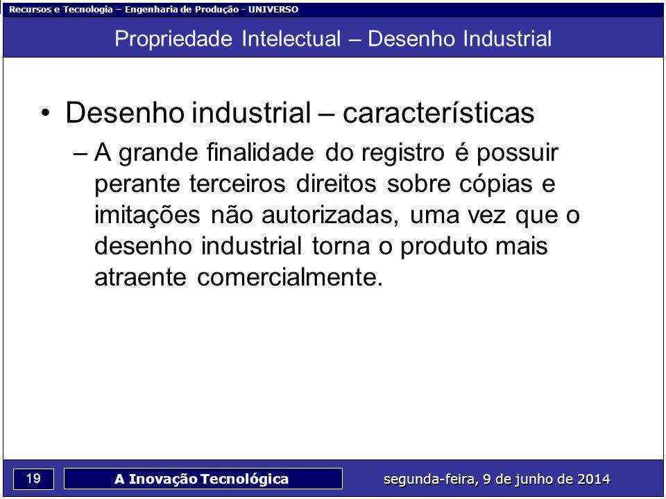 Propriedade Intelectual – Desenho Industrial
