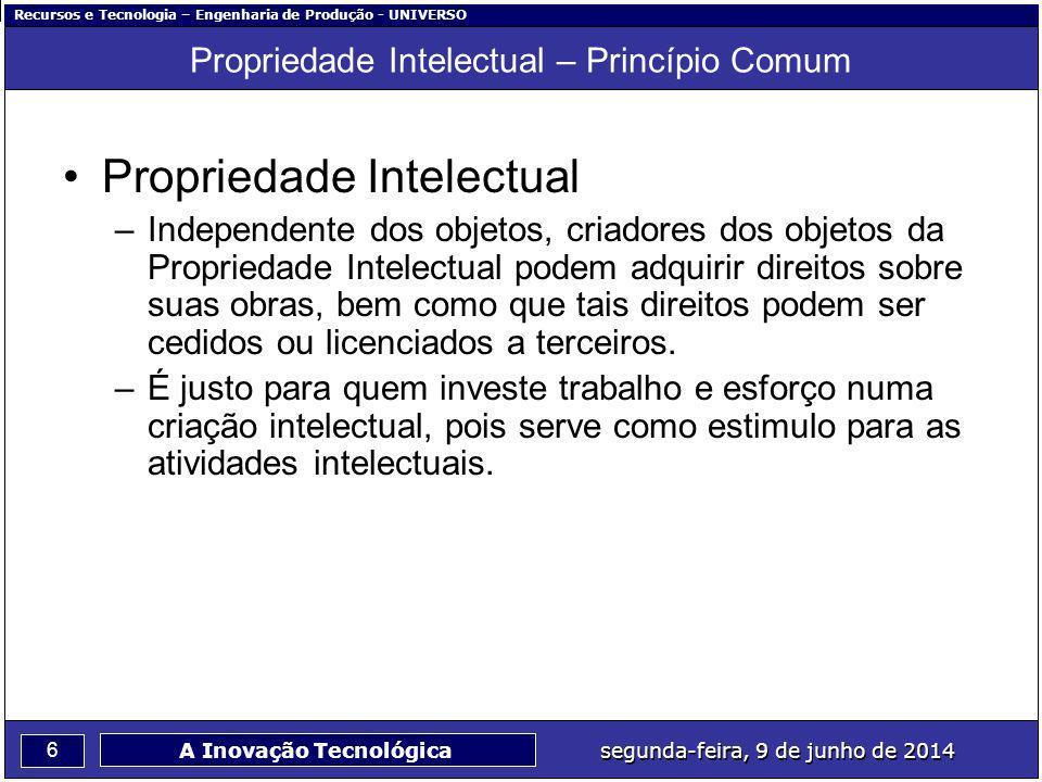 Propriedade Intelectual – Princípio Comum