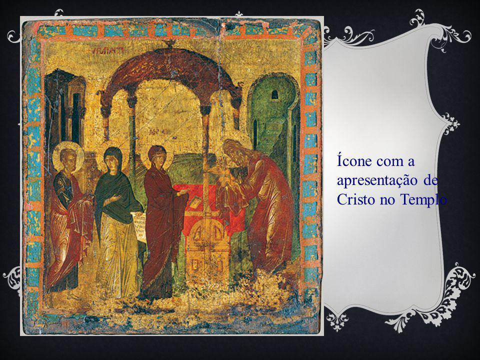 Ícone com a apresentação de Cristo no Templo