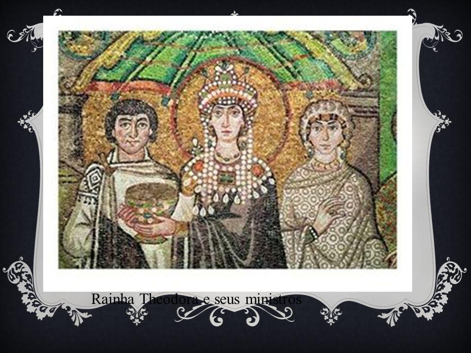 Rainha Theodora e seus ministros