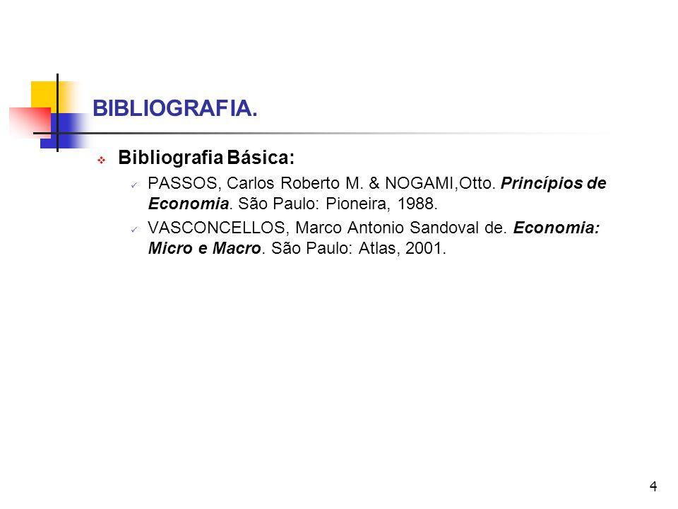 BIBLIOGRAFIA. Bibliografia Básica: