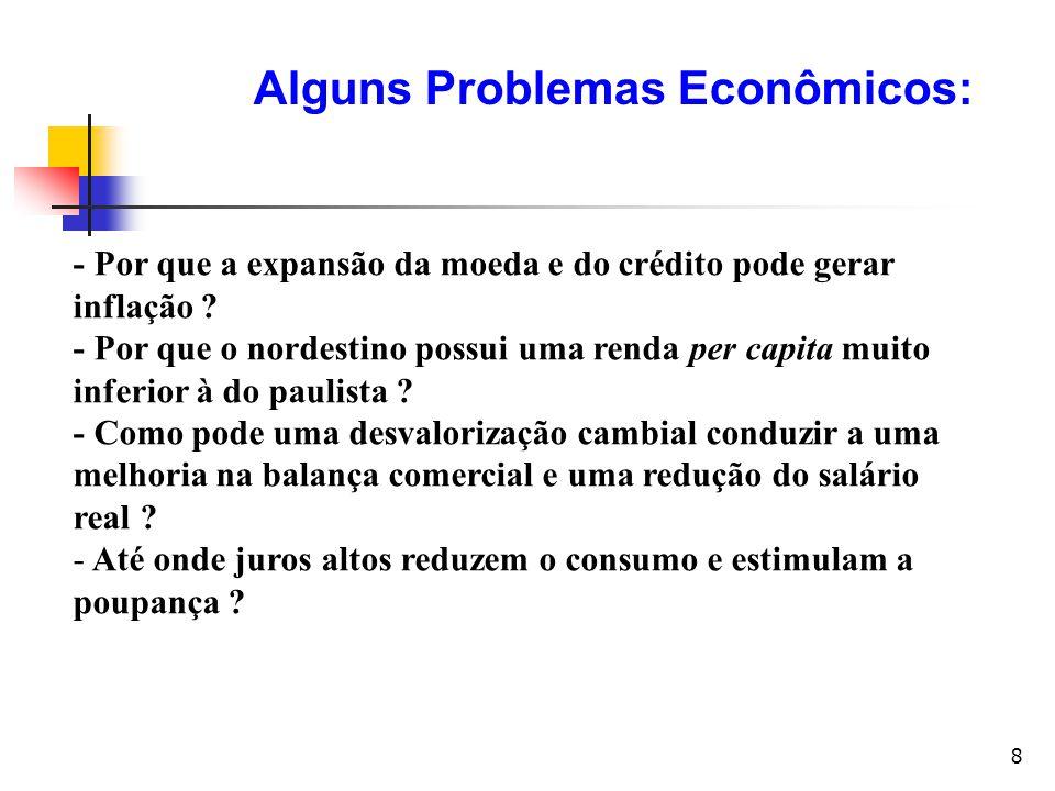 Alguns Problemas Econômicos: